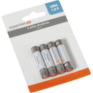 EssentielB Piles 4 AAA Alcaline LR03