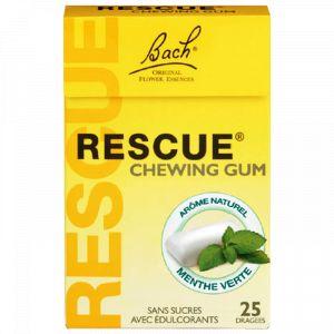 Bach Rescue Chewing-Gum menthe verte - 25 dragées