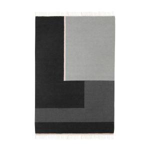 Ferm Living Tapis Kelim Section / XL - 250 x 160 cm blanc,gris,noir en tissu