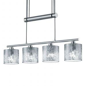 Trio Suspension Garda 4 lampes abat-jour argentés