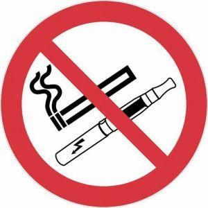 Novap Disque de réglementation anti-tabac - défense de fumer et de vapoter - diamètre 300 mm