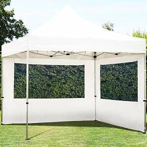 Intent24 Tente Pliante 3x3m Pes 300 G/M² Blanc Imperméable Barnum Pliant, Tonnelle Pliante, Tente De Jardin