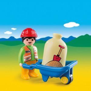 Playmobil 6961 - 1.2.3 Ouvrier avec brouette