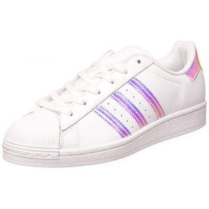 Adidas Superstar J, Basket Mixte Enfant, FTWR White/FTWR White/FTWR White, 37 1/3 EU