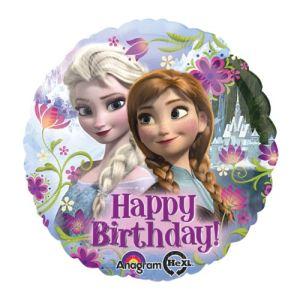 "Ballon en aluminium ""Happy Birthday"" La Reine des Neiges (40 cm)"
