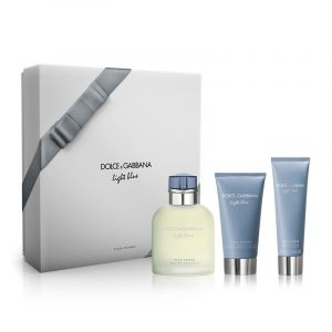 Dolce & Gabbana Light Blue - Coffret eau de toilette, baume après-rasage et gel douche