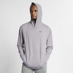 Nike Sweatà capuche de training à manches longues DriFIT pour Homme Gris Couleur Gris Taille L