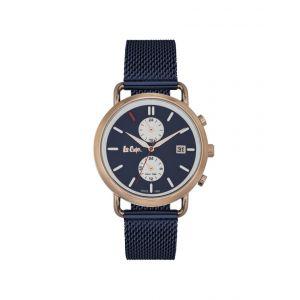 Lee Cooper Montre LC06710.490 - Montre Multifonctions Bracelet Milanais Bleu Homme