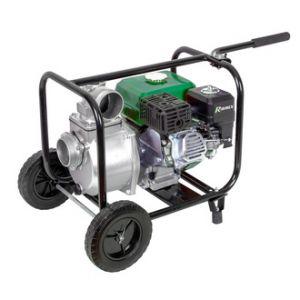 Ribimex Motopompe thermique essence eaux claires 6 hp 212 cc 60m3 par heure sur roues
