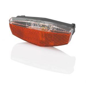 XLC Porte-bagages - Éclairage vélo - réflecteurs inclus avec prise USB rouge Lampes arrière