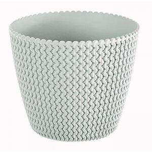 PROSPERPLAST Pot rond Sploty Ø 259 mm Blanc