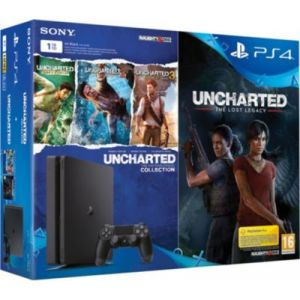 Sony PS4 Slim 1 To Noire + Uncharted Lost Legacy + Nathan Drake Collection