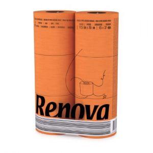 Renova Essuie-tout Color Red Label, colis de 10 rouleaux