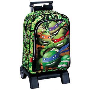 Sac à dos à roulettes Tortue Ninja 43 cm - Trolley haut de gamme