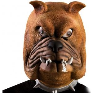 Masque chien bouledogue en latex adulte