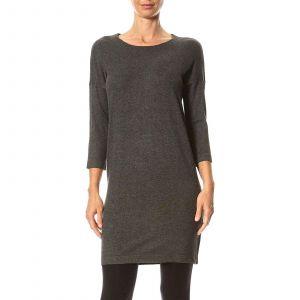 Vero Moda VMGLORY VIPE AURA 3/4 DRESS NOOS, Robe Femme, Gris (Dark Grey Melange), 36 (Taille fabricant: Small)
