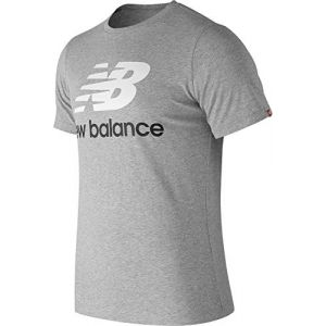 New Balance Mt83530 Essentials Stacked Logo shirt Hommes gris chiné Gr.XL EU