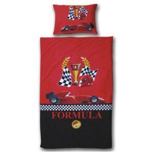 Someo Formule 1 - Housse de couette et taie 100% coton (140 x 220 cm)
