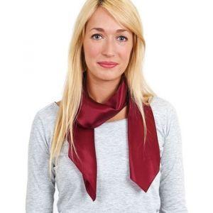 Allée du foulard Carré de soie Premium Uni Bordeaux