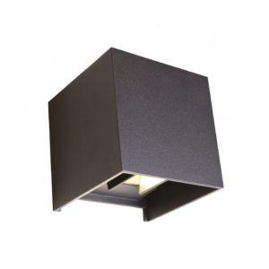 Vision-El Applique Murale X37 LED 7 Watt 230V IP54 - Couleur - Blanc chaud 3000°K, Finition - Noir