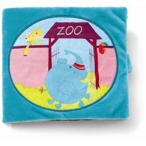 Lilliputiens Livre tissu Albert au zoo
