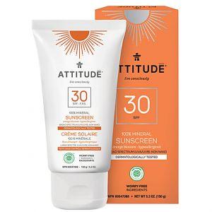 Attitude Crème solaire SPF 30 100% minérale fleur d'oranger
