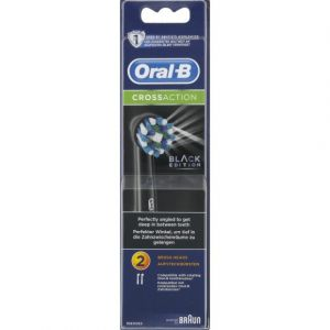 Oral-B 2 brosettes noires compatibles avec les brosses @ dents
