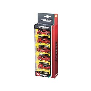 Bburago Coffret de 5 voitures Ferrari 1/64ème