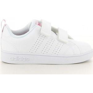 Adidas Vs ADV Cl CMF Inf, Chaussures de Fitness Mixte Enfant, Blanc (Ftwbla/Supros 000), 27 EU