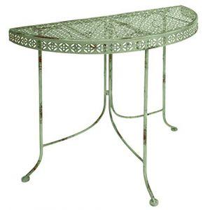 Esschert design Table demi-cercle Esschert -