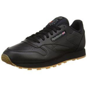 Reebok Basket Cl LTHR 49800 Black/Gum - Taille 44 - Couleur Noir