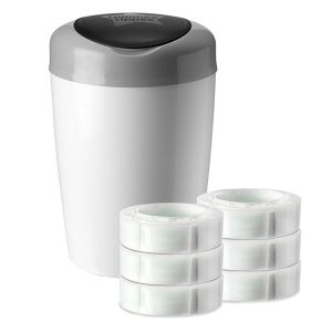 Tommee tippee Simplee Starter Pack Sangenic 1 bac + 6 recharges
