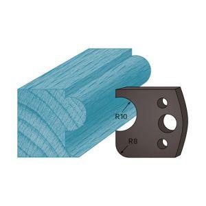 Diamwood Platinum Jeu de 2 contre-fers profilés Ht. 38 x 4 mm boudon et congé A04 pour porte-outils de toupie