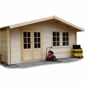 Solid S8346 - Abri de jardin Vernier en bois 28 mm 26,46 m2