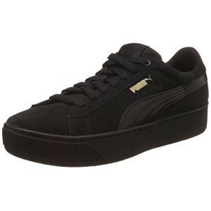 Puma Vikky Platform, Baskets Basses Femme, Noir (Black-Black), 39 EU