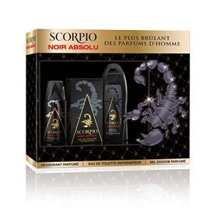Scorpio Noir Absolu - Coffret eau de toilette, gel douche et déodorant