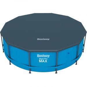 Bestway Bâche Couverture pour piscine en PE Protection - bleu - Ø 366 cm - DEUBA