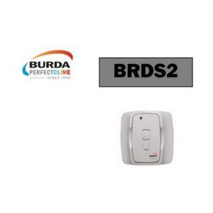 Burda Interrupteur/télécommande murale blanche, pour piloter rampe chauffange - BRDS2.