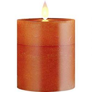 Polarlite Bougie LED en cire véritable pour l'intérieur/extérieur PL-8213565 orange Ampoule LED blanc chaud 1 pc(s)