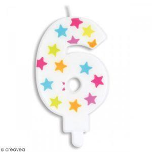 Scrapcooking 0386 Numéro 6 Bougie Paraffine Multicolore 15,5 x 8 x 1 cm