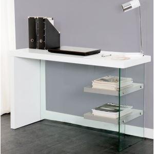 Bureau blanc laque verre - Comparer 65 offres