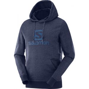 Salomon Sweatshirts Logo Hoodie - Night Sky - Taille XL