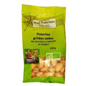 Direct producteurs fruit secs Pistaches grillées salées des plantations d'Albacete Bio - 125 g