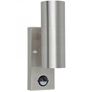 Harms Applique détecteur de mouvement 120° senseur luminaire mural extérieur inox IP44