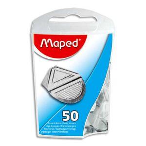 Maped Boîte de 50 coins de lettres métallises en aluminium