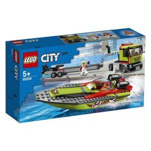 Lego City Great Vehicles 60254 Le transport du bateau de course