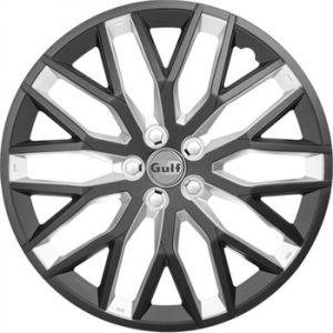 Gulf 4 enjoliveurs noir/argent GT40 16 pouces