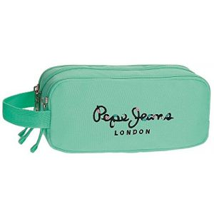 Pepe Jeans Trousse triple compartiment Harlow Turquoise