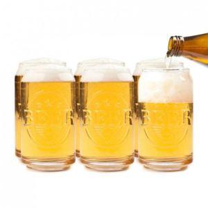 Balvi 6 verres à bière Canette