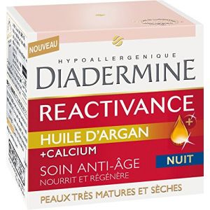 Diadermine Reactivance à l'huile d'argan - Anti-Rides Nuit 50 ml